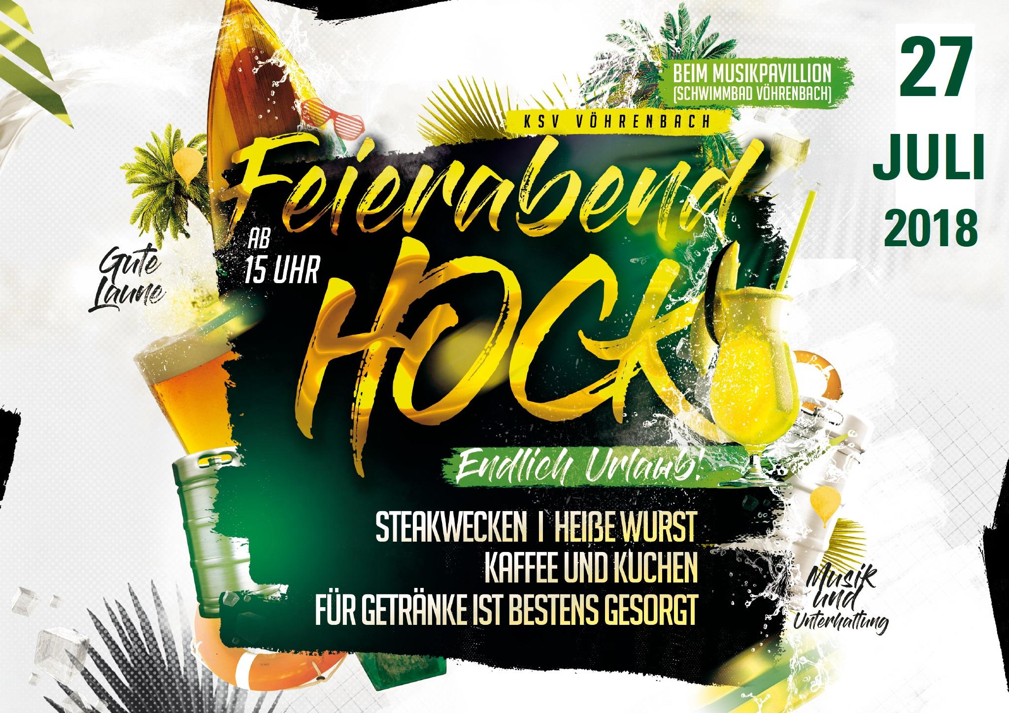 Feierabendhock Freitag, 27.07.2018